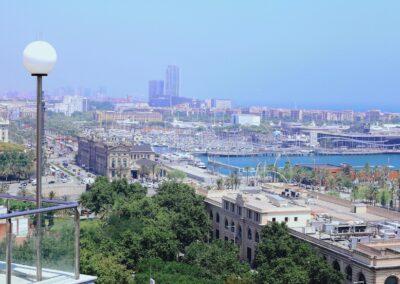 vistas restaurante terraza miramar barcelona